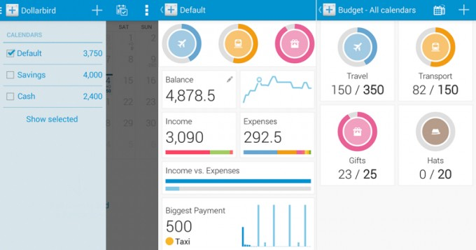 Dollarbird, un monedero virtual con calendario en Android