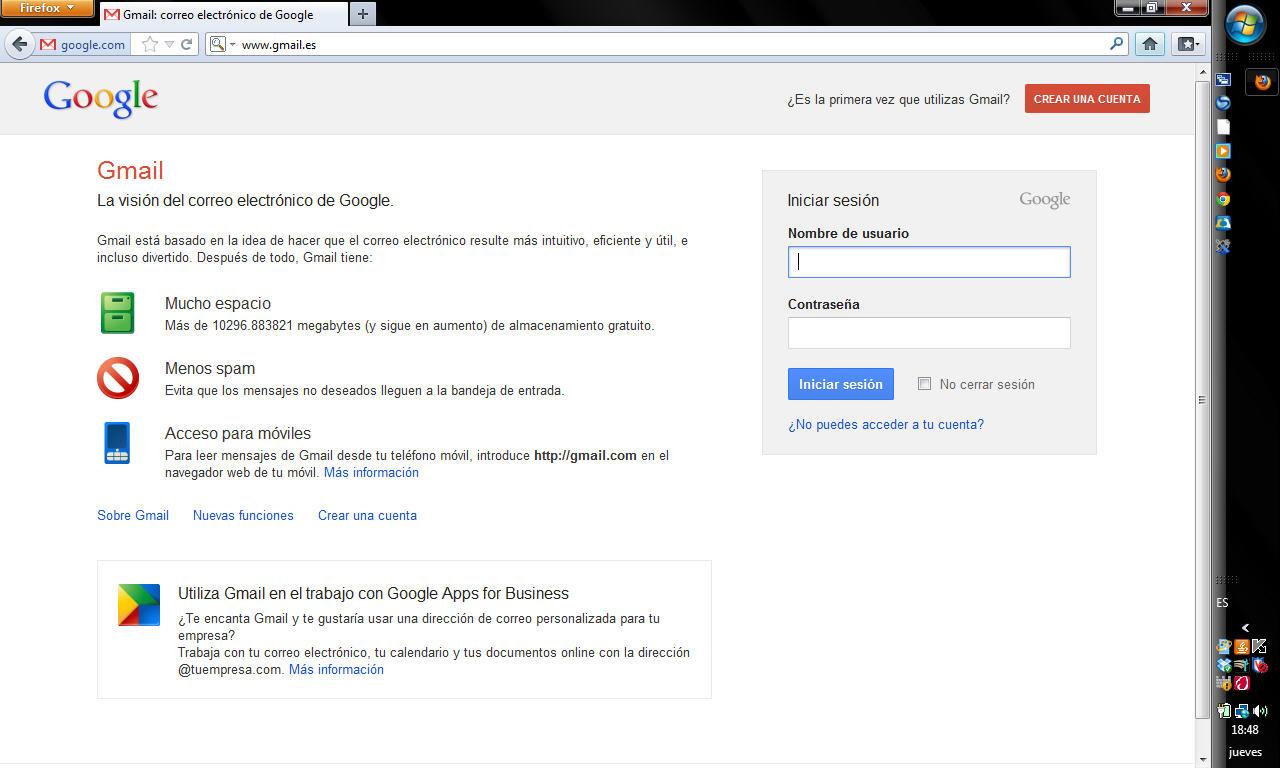 Gmail correo problemas para iniciar sesión