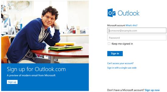 Entrar en Hotmail correo o iniciar sesión desde Outlook.com