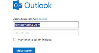 Inicio sesion outlook