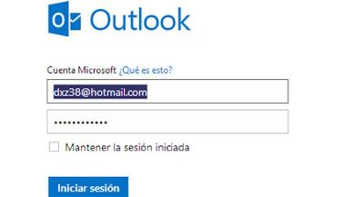 Iniciar sesión en Hotmail correo desde Outlook.com