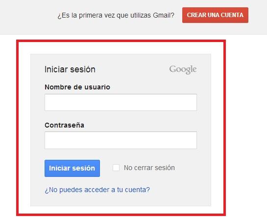 Gmail iniciar sesion: crear un correo Gmail.com de Google