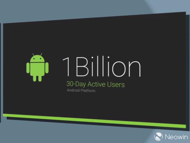 Google, Android va más allá del billón de usuarios