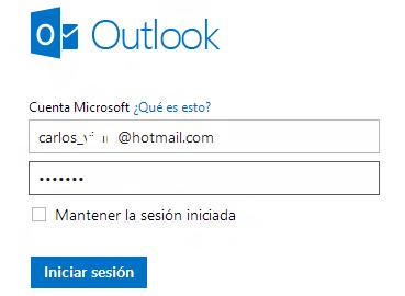 Hotmail, iniciar sesión en tu cuenta de correo Outlook.com