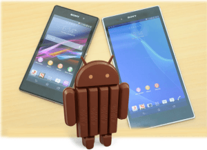 Android KitKat Sony Xperia Z1 y Z1 Xperia Ultra