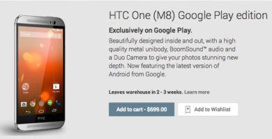 Android L, estará en el HTC One M8 Google Play Edition