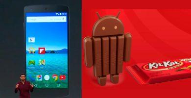 Comparación visual entre Android L y Android KitKat
