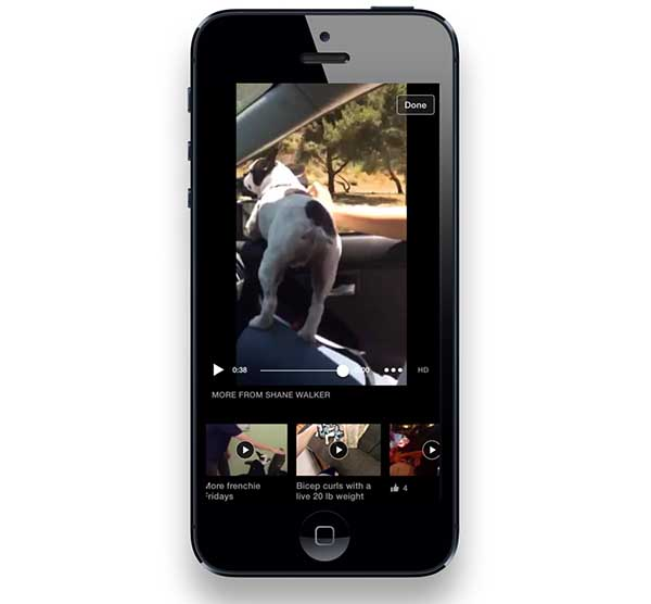 Facebook ya visualiza videos relacionados den iPhone e iPad