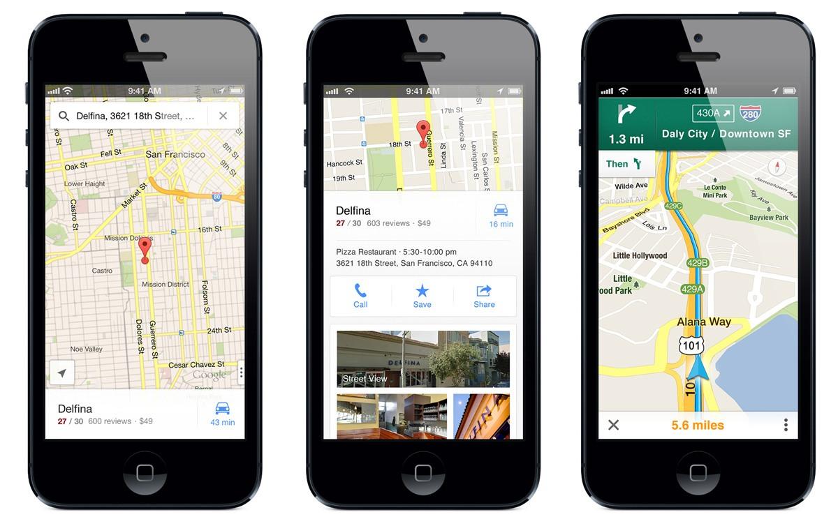 Se ha actualizado Google Maps para sistemas iOS