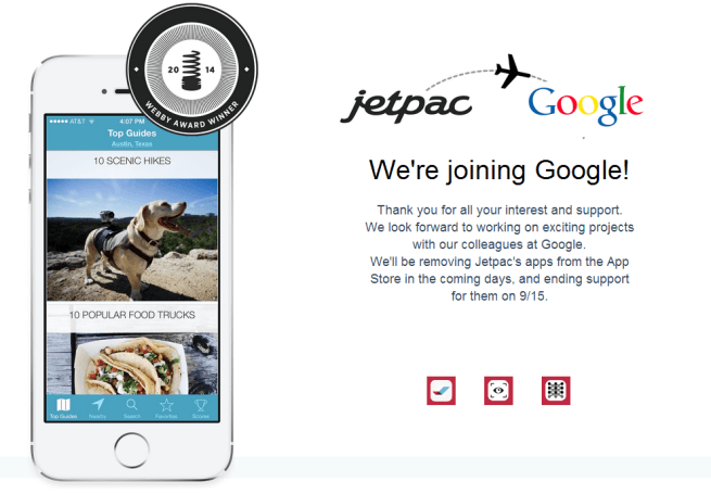 Google ha comprado a Jetpac