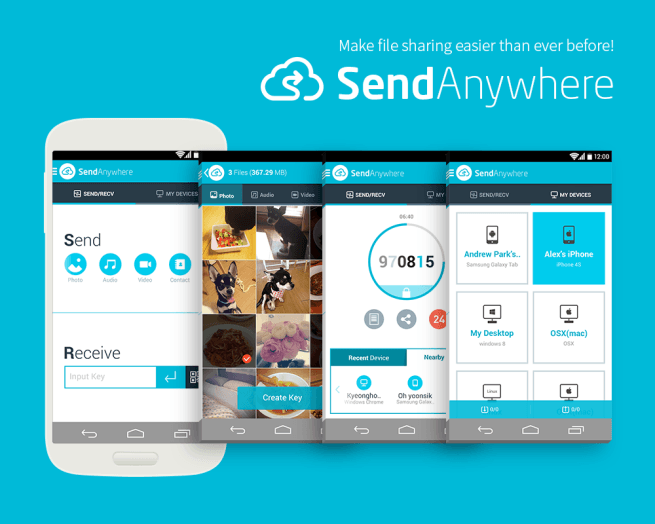 Comparte archivos rápida y fácilmente con SendAnywhere para Android