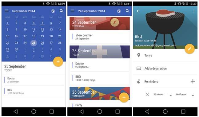 Today Calendar - Actualiza su diseño pensando en Android L