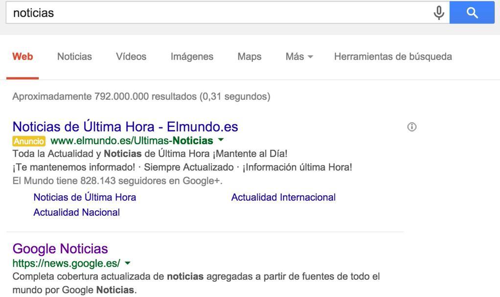 el mundo pagando a google
