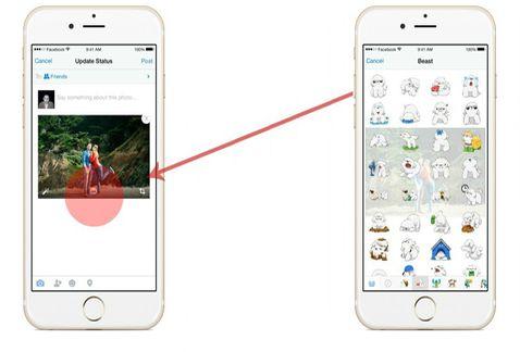 Facebook añade la función de agregar stickers a las imágenes