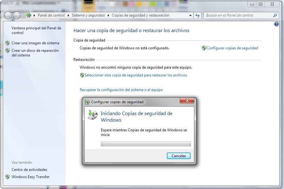 Copia de seguridad de Windows