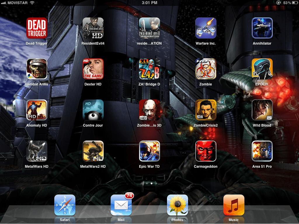 Juegos en iPad