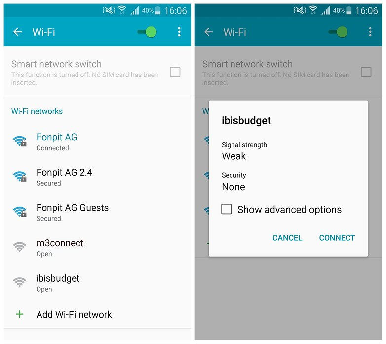 Android escaner wi-fi