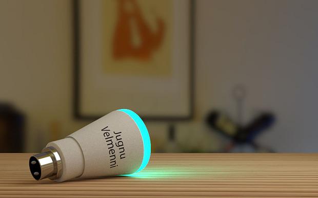 Bombillo Velminni, el cual usa tecnología Li-Fi para intercambiar datos a alta velocidad