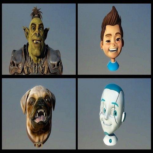 Estos son los avatares de Faceshift