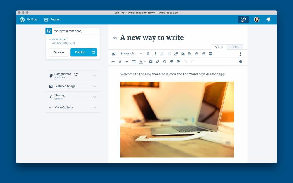 Una nueva interfaz en la que escribir