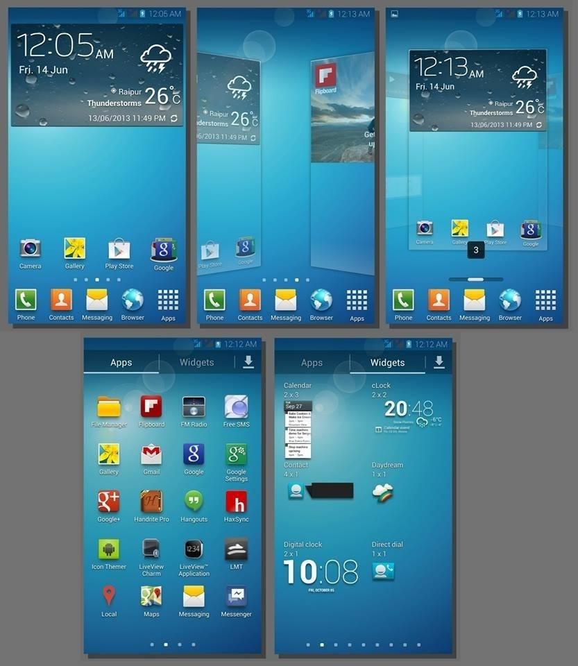 interfaz de TouchWiz
