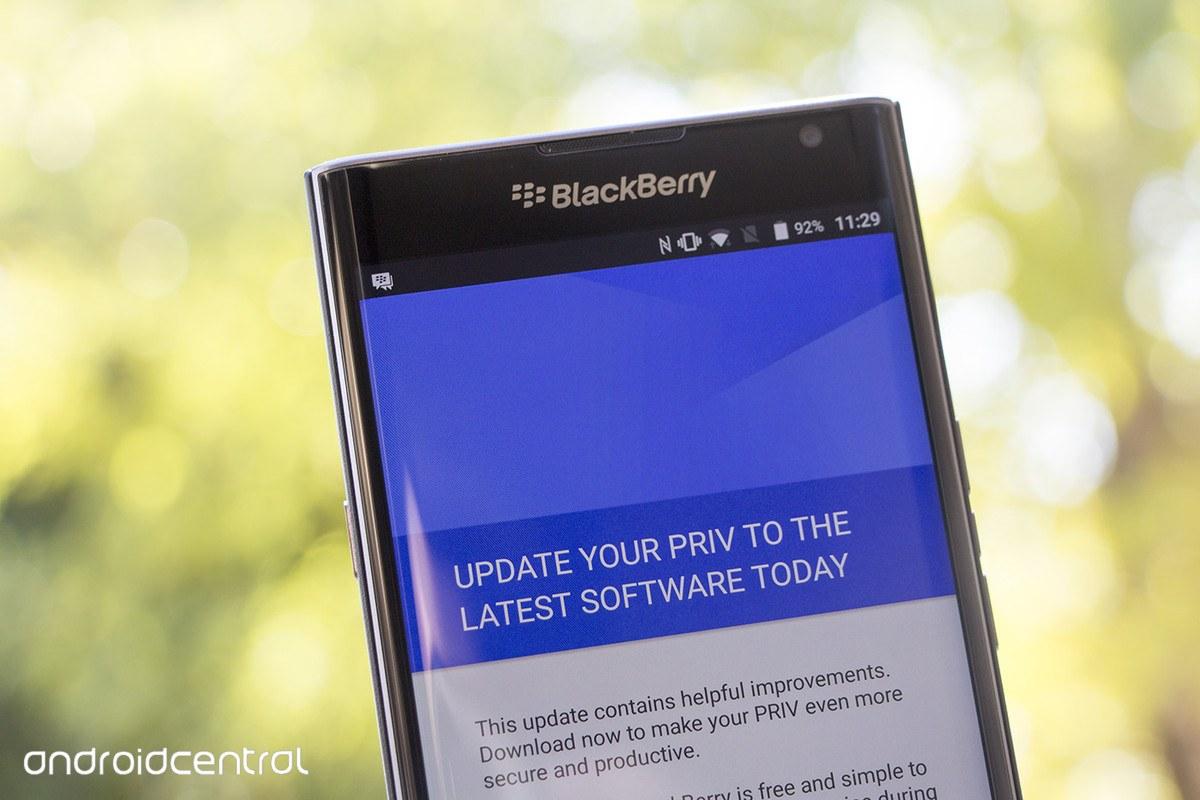 AT&T promociona su primera actualización para el Blackberry Priv