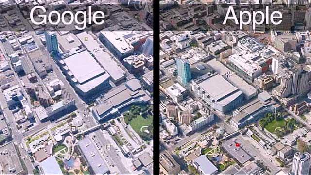 Appel Maps y Google maps