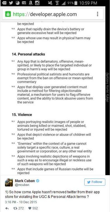 Mark Cuban dice que Apple debería retirar Twitter de la App Store de iOS por contenido cuestionable 3