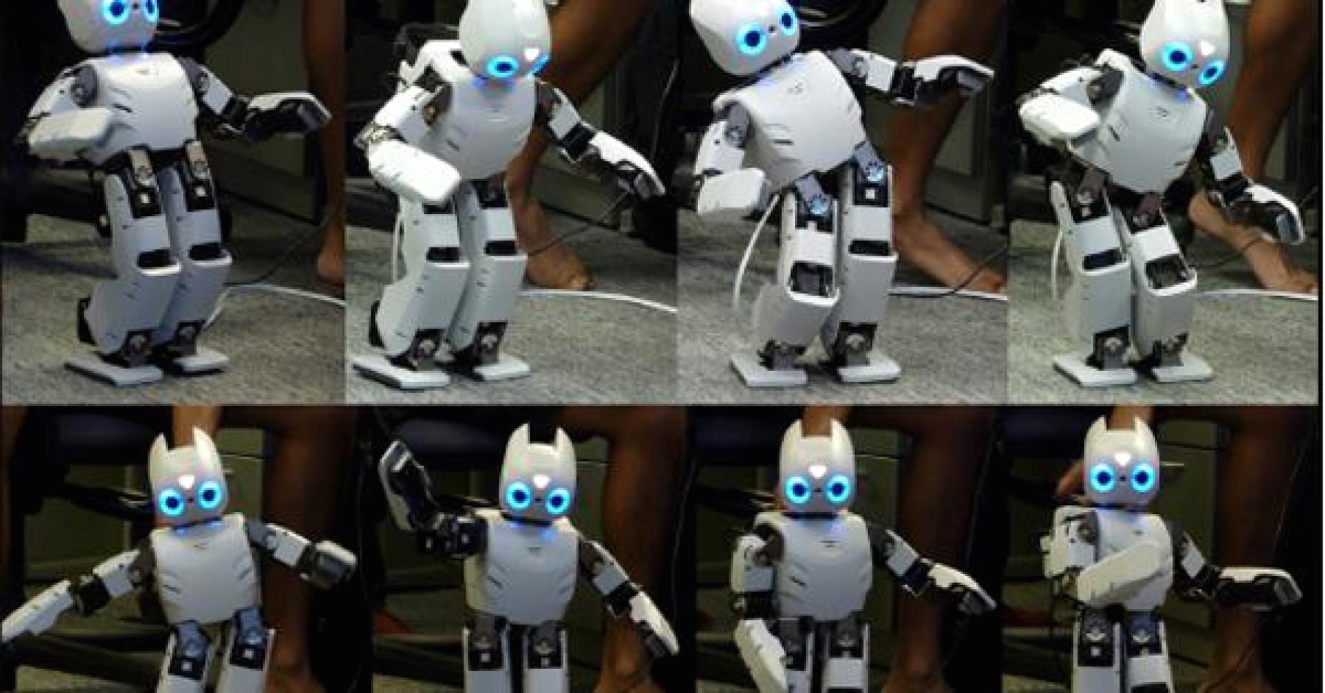 Robot de california camina como niño
