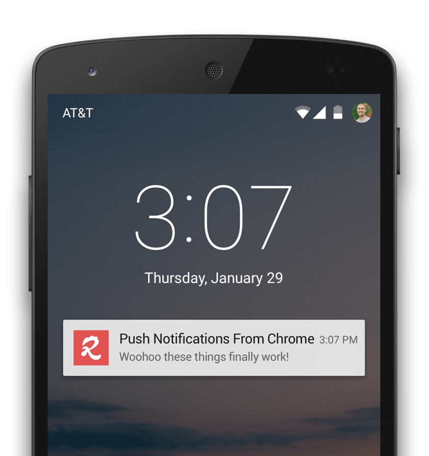 chrome web push notifications