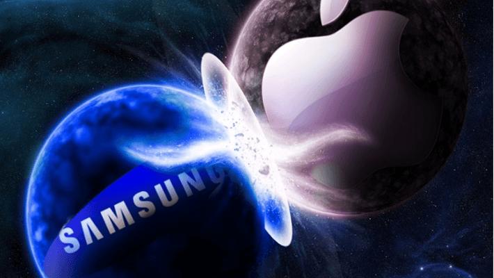 entre la compañía Apple y la compañía coreana Samsung