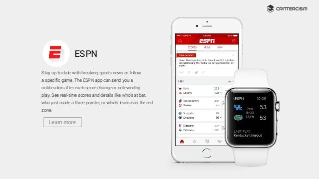 la aplicación de ESPN ha sufrido una actualización que trae mejoras y beneficios que encantaran al usuario