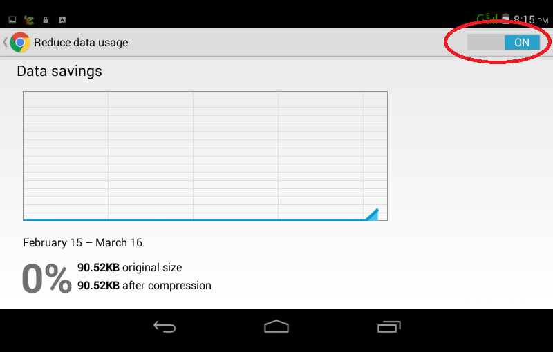 reduce data usage in chrome in android device 5