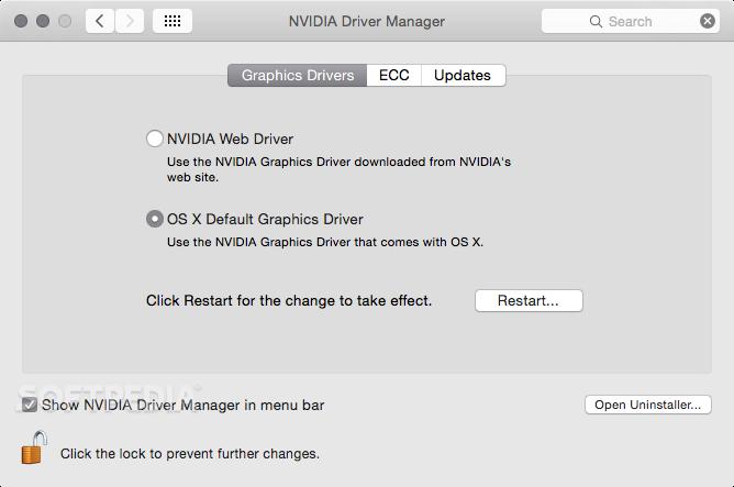 Controladores Nvidia MAC