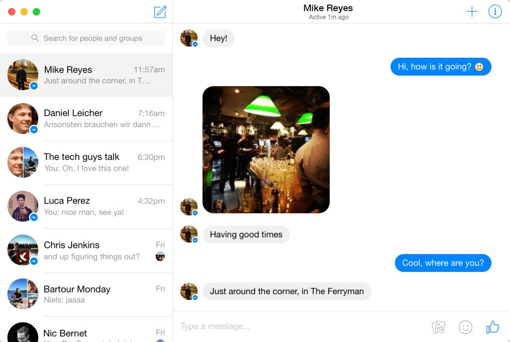 Goofy ofrece un cliente nativo de la mensajería de Facebook para Mac