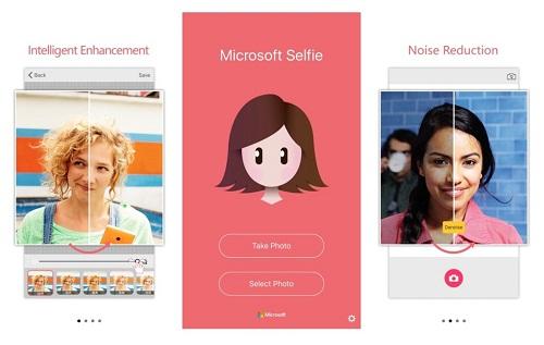 La aplicación Microsoft Selfie comparte tus retratos desde tu iPhone