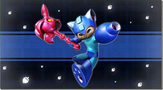 Monster Hunter X y Megaman juntos luchando en acción