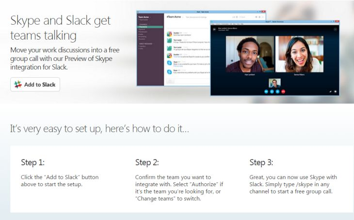 Skype Slack Integracion Microsoft