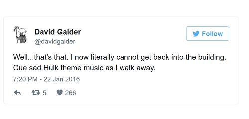 Tweet de David Gaider al salir de BioWare