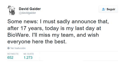 Tweet oficial del anuncio