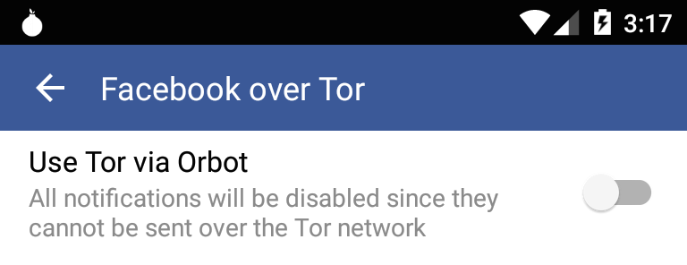 Use Tor via Orbot