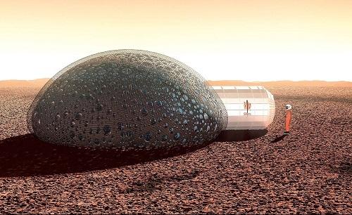 Casa de burbuja en Marte