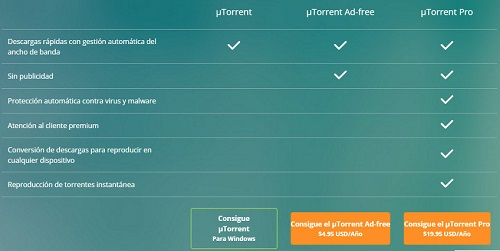 Descarga uTorrent libre de anuncios