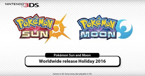 Lanzarán Pokémon Sun y Moon para Nintendo 3DS este año