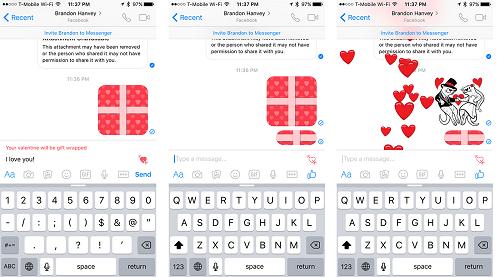 Regalo de San Valentin con Facebook Messenger