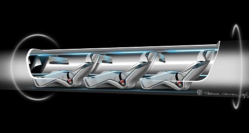 boceto del Hyperloop