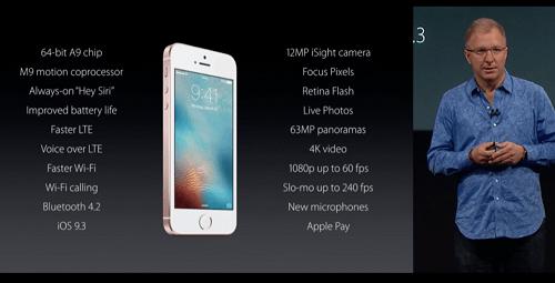 Caracteristicas del iPhone SE