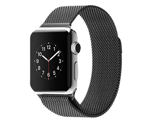 Fashion-Gold-Silver-Black-Strap-For-Apple-Watch-Band-Milanese-Loop-Woven-stainless-steel-Watch-band