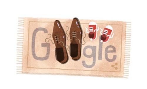 Google celebra el Día del Padre con un doodle de una alfombra y zapatos