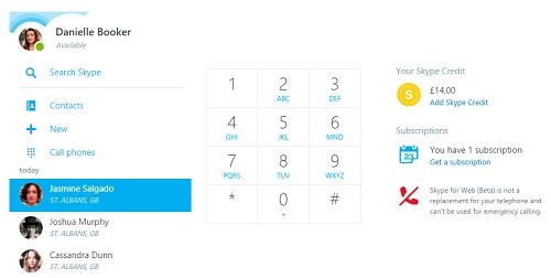 Skype ya cuenta con su propia plataforma web